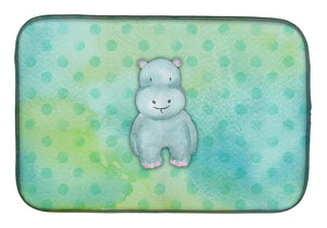 Buy this Polkadot Hippopotamus Watercolor Dish Drying Mat BB7389DDM