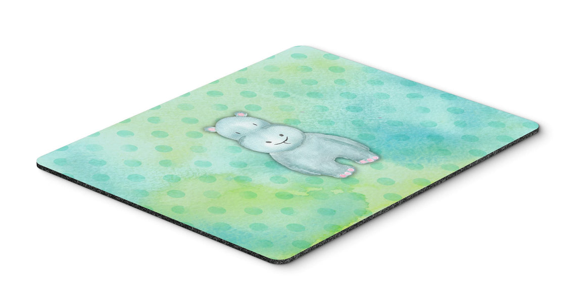 Buy this Polkadot Hippopotamus Watercolor Mouse Pad, Hot Pad or Trivet BB7389MP