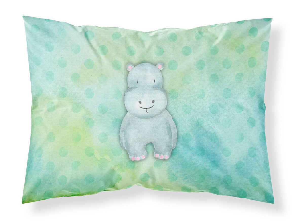 Buy this Polkadot Hippopotamus Watercolor Fabric Standard Pillowcase BB7389PILLOWCASE