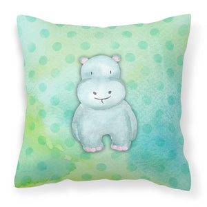Buy this Polkadot Hippopotamus Watercolor Fabric Decorative Pillow BB7389PW1818