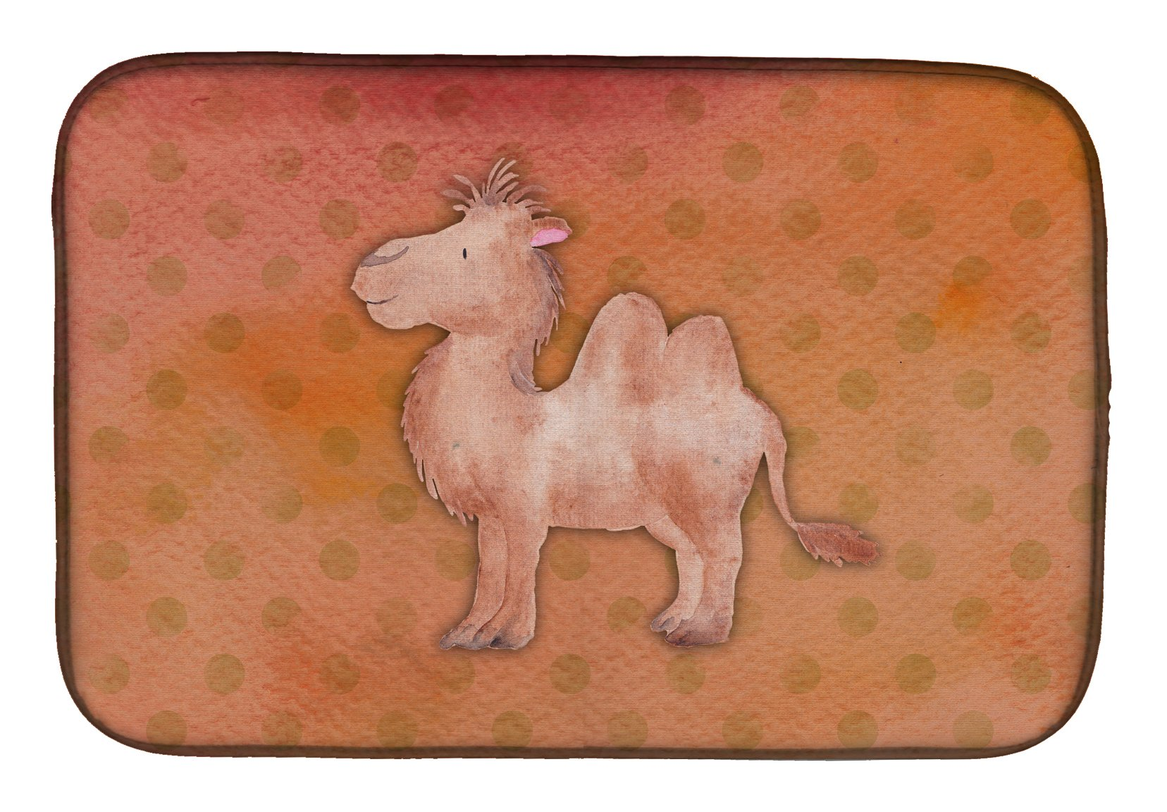 Buy this Polkadot Camel Watercolor Dish Drying Mat BB7393DDM