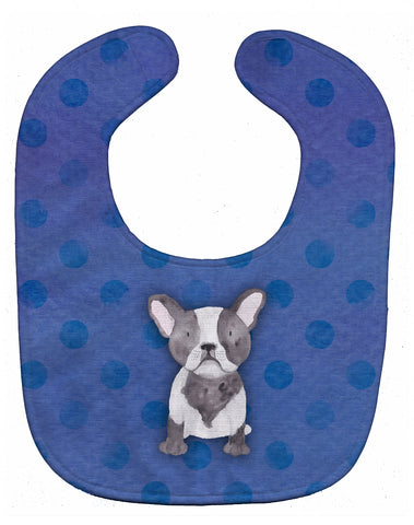 Buy this French Bulldog Polkadot Watercolor Baby Bib BB7394BIB