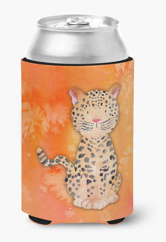 Buy this Leopard Watercolor Can or Bottle Hugger BB7396CC