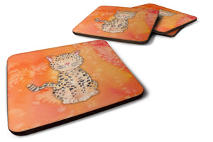 Buy this Leopard Watercolor Foam Coaster Set of 4 BB7396FC