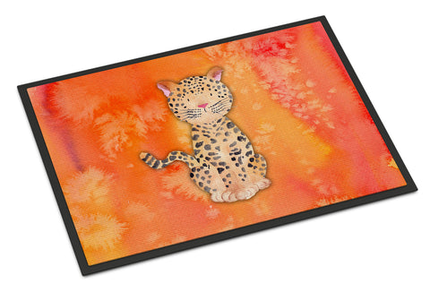 Buy this Leopard Watercolor Indoor or Outdoor Mat 18x27 BB7396MAT