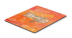 Buy this Leopard Watercolor Mouse Pad, Hot Pad or Trivet BB7396MP