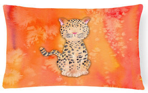 Buy this Leopard Watercolor Canvas Fabric Decorative Pillow BB7396PW1216