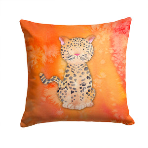 Buy this Leopard Watercolor Fabric Decorative Pillow BB7396PW1414