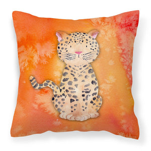 Buy this Leopard Watercolor Fabric Decorative Pillow BB7396PW1818