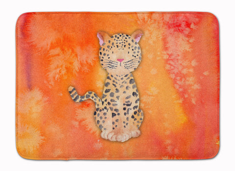 Buy this Leopard Watercolor Machine Washable Memory Foam Mat BB7396RUG