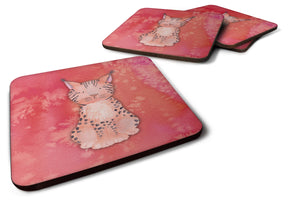 Buy this Lynx Watercolor Foam Coaster Set of 4 BB7397FC