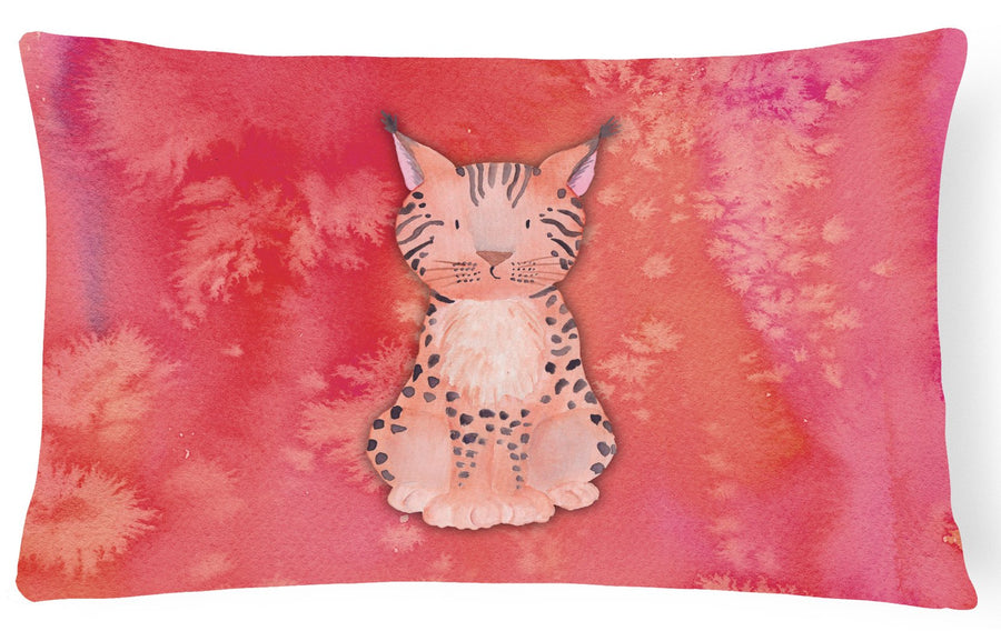 Buy this Lynx Watercolor Canvas Fabric Decorative Pillow BB7397PW1216