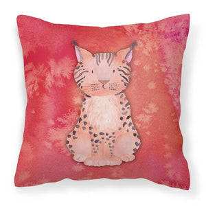 Buy this Lynx Watercolor Fabric Decorative Pillow BB7397PW1818