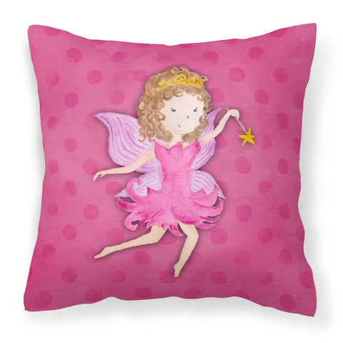 Buy this Fairy Princess Watercolor Fabric Decorative Pillow BB7406PW1818