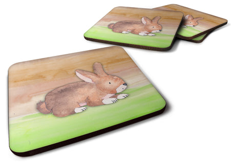 Buy this Rabbit Watercolor Foam Coaster Set of 4 BB7410FC