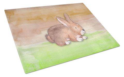 Buy this Rabbit Watercolor Glass Cutting Board Large BB7410LCB