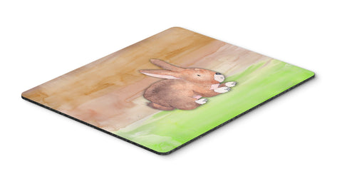 Buy this Rabbit Watercolor Mouse Pad, Hot Pad or Trivet BB7410MP