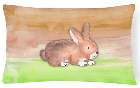 Buy this Rabbit Watercolor Canvas Fabric Decorative Pillow BB7410PW1216