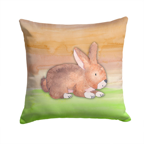 Buy this Rabbit Watercolor Fabric Decorative Pillow BB7410PW1414