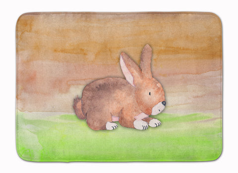 Buy this Rabbit Watercolor Machine Washable Memory Foam Mat BB7410RUG