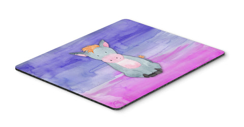 Buy this Donkey Watercolor Mouse Pad, Hot Pad or Trivet BB7415MP