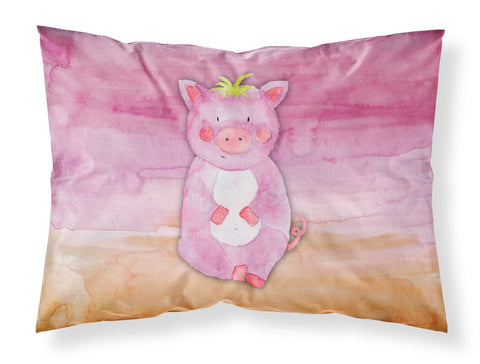 Buy this Pig Watercolor Fabric Standard Pillowcase BB7416PILLOWCASE
