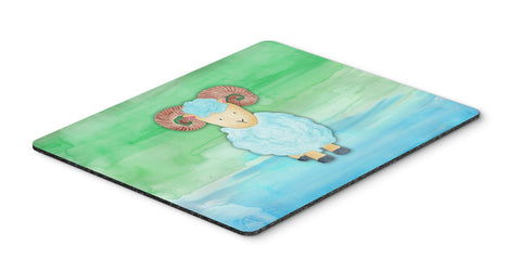 Buy this Ram Sheep Watercolor Mouse Pad, Hot Pad or Trivet BB7418MP