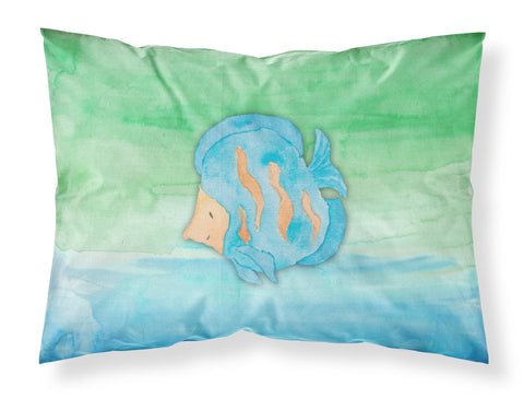 Buy this Blue Fish Watercolor Fabric Standard Pillowcase BB7419PILLOWCASE