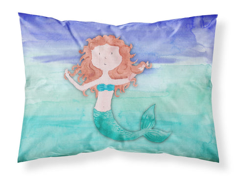Buy this Ginger Mermaid Watercolor Fabric Standard Pillowcase BB7421PILLOWCASE