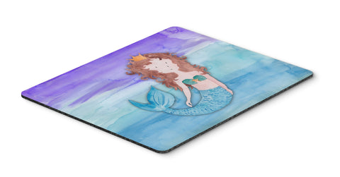Buy this Brunette Mermaid Watercolor Mouse Pad, Hot Pad or Trivet BB7422MP