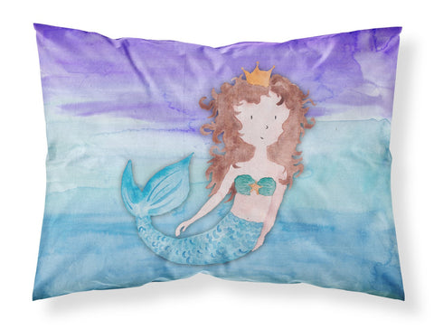 Buy this Brunette Mermaid Watercolor Fabric Standard Pillowcase BB7422PILLOWCASE
