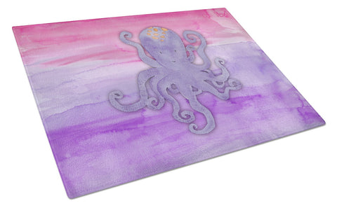 Buy this Octopus Watercolor Glass Cutting Board Large BB7424LCB