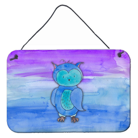 Buy this Blue Owl Watercolor Wall or Door Hanging Prints BB7426DS812