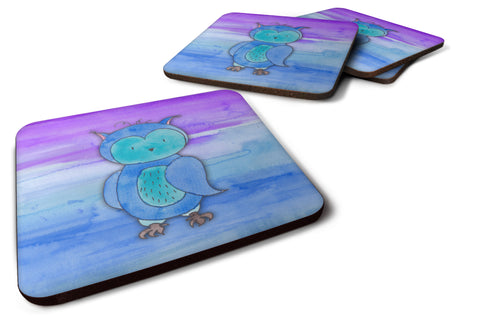 Buy this Blue Owl Watercolor Foam Coaster Set of 4 BB7426FC