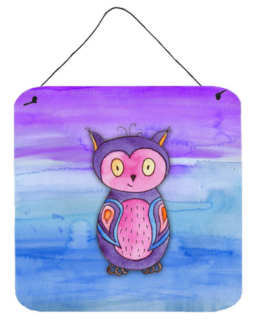 Buy this Pink and Purple Owl Watercolor Wall or Door Hanging Prints BB7427DS66