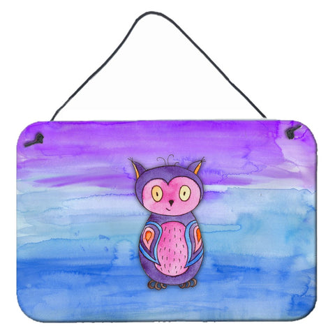 Buy this Pink and Purple Owl Watercolor Wall or Door Hanging Prints BB7427DS812