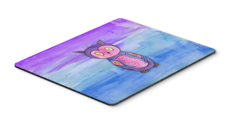 Buy this Pink and Purple Owl Watercolor Mouse Pad, Hot Pad or Trivet BB7427MP