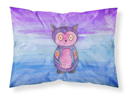 Buy this Pink and Purple Owl Watercolor Fabric Standard Pillowcase BB7427PILLOWCASE