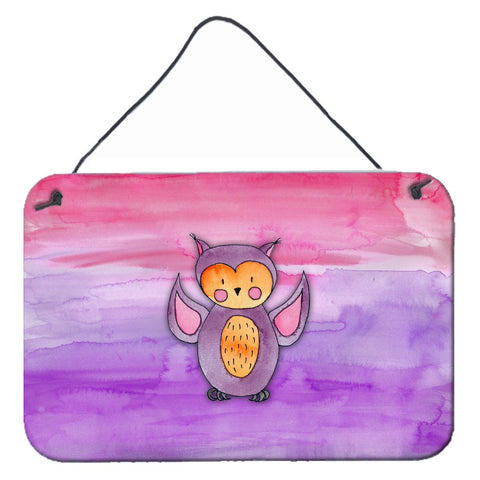 Buy this Pink and Purple Owl Watercolor Wall or Door Hanging Prints BB7428DS812