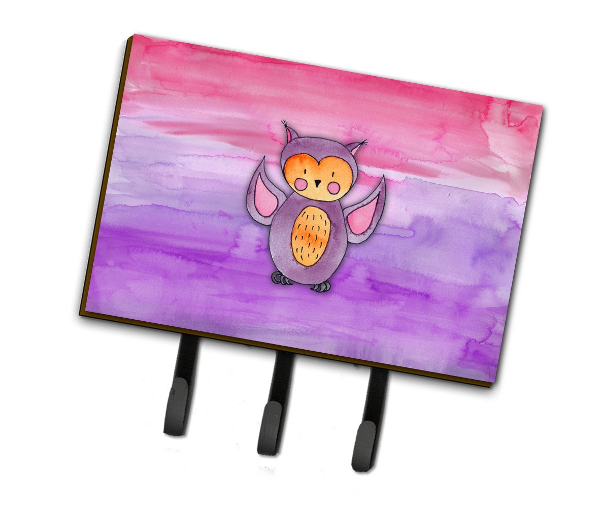 Pink and Purple Owl Watercolor Leash or Key Holder BB7428TH68 by Caroline's Treasures