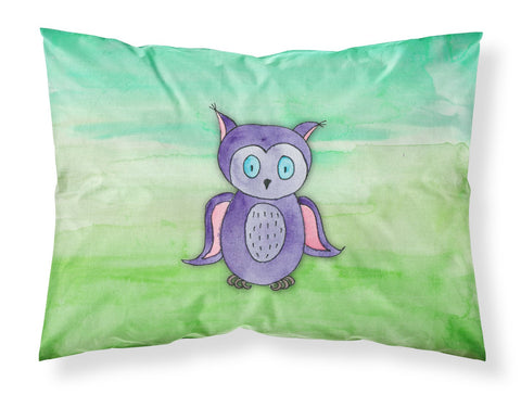 Buy this Purple Owl Watercolor Fabric Standard Pillowcase BB7429PILLOWCASE
