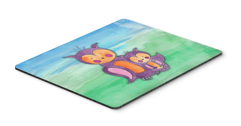 Buy this Momma and Baby Owl Watercolor Mouse Pad, Hot Pad or Trivet BB7430MP