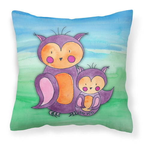 Buy this Momma and Baby Owl Watercolor Fabric Decorative Pillow BB7430PW1818