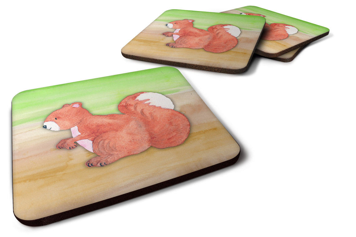 Buy this Squirrel Watercolor Foam Coaster Set of 4 BB7431FC