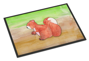 Buy this Squirrel Watercolor Indoor or Outdoor Mat 24x36 BB7431JMAT