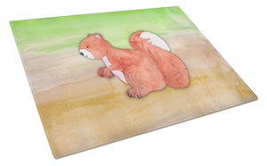 Buy this Squirrel Watercolor Glass Cutting Board Large BB7431LCB