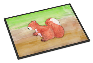 Buy this Squirrel Watercolor Indoor or Outdoor Mat 18x27 BB7431MAT