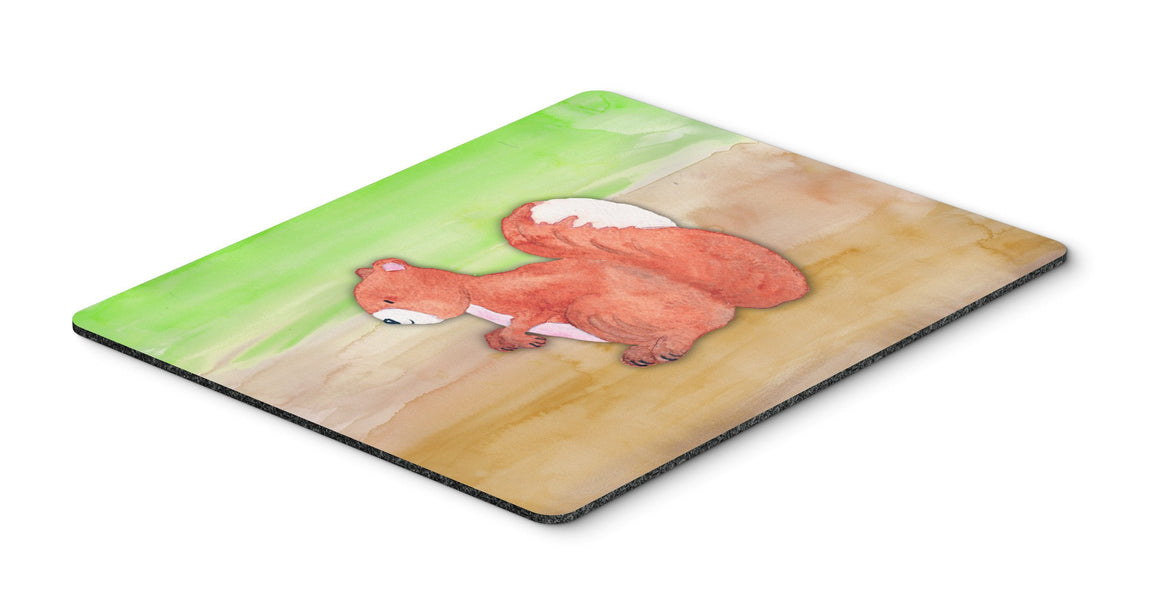 Buy this Squirrel Watercolor Mouse Pad, Hot Pad or Trivet BB7431MP