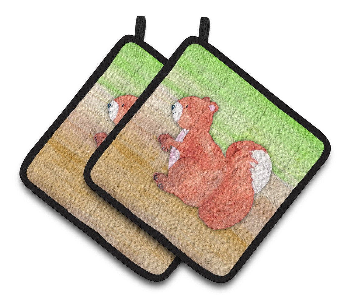 Buy this Squirrel Watercolor Pair of Pot Holders BB7431PTHD