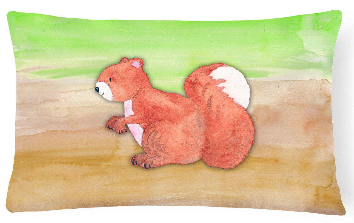 Buy this Squirrel Watercolor Canvas Fabric Decorative Pillow BB7431PW1216